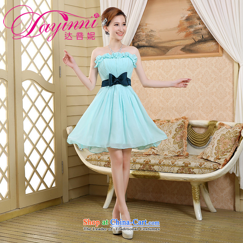 2015 new bridesmaid mission bridesmaid service in a small dress Sister Mary Magdalene chest annual skirt bridesmaid skirt bridesmaid dress skyblue XL