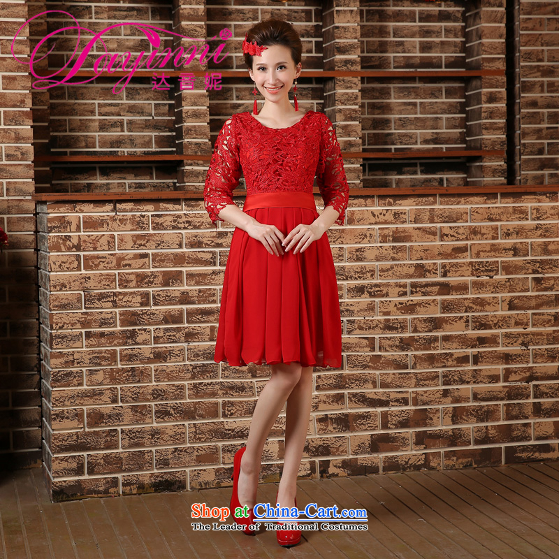 Pregnant women serving high-lumbar spring bows new marriages cheongsam dress 2015 large short of Sau San REDRED?S