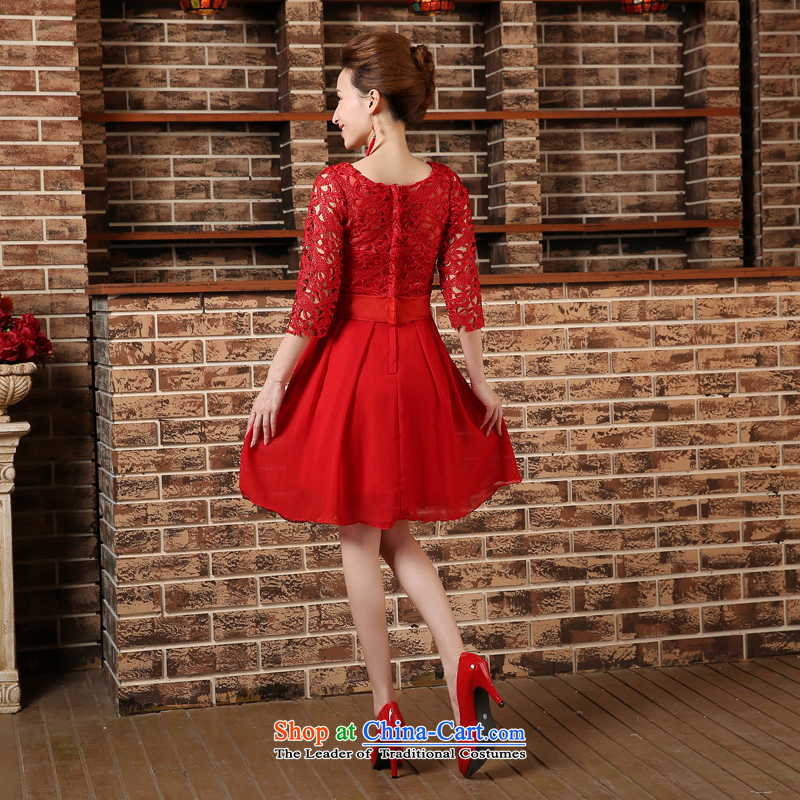 Pregnant women serving high-lumbar spring bows new marriages cheongsam dress 2015 large short of Sau San REDRED S, to sound (dayinni ni) , , , shopping on the Internet