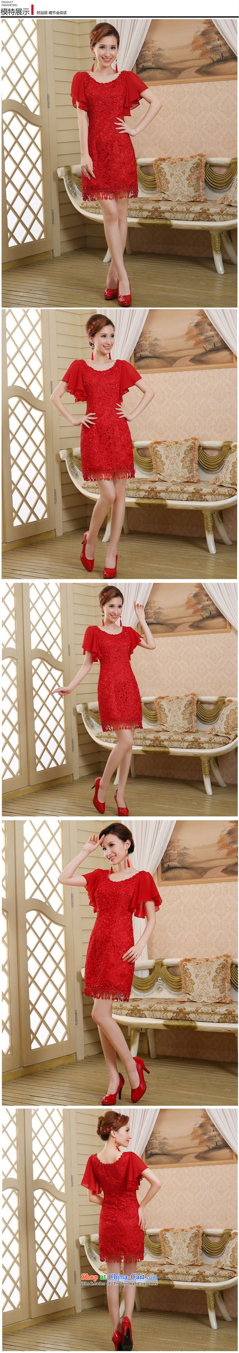 The bride wedding dress bows services spring and summer skirts qipao new 2015 red lace Sau San retro style red聽M picture, prices, brand platters! The elections are supplied in the national character of distribution, so action, buy now enjoy more preferential! As soon as possible.