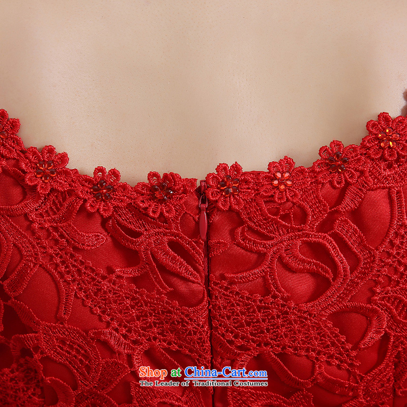 The bride wedding dress bows services spring and summer skirts qipao new 2015 red lace Sau San retro style red聽M to sound (dayinni ni) , , , shopping on the Internet