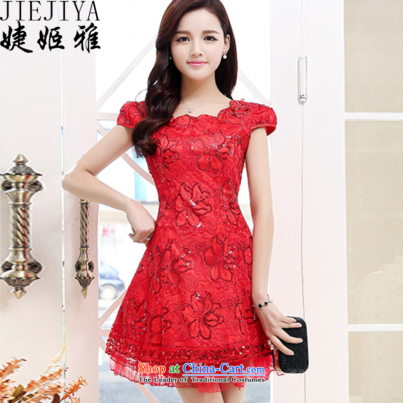 Involving the?spring and summer 2015, Jacques Suu Kyi replacing lace dresses and stylish wedding dress Sau San temperament dresses bride bridesmaid annual concert bows dresses RED?M