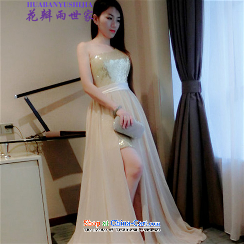 Saga 2015 summer rain petals on-chip high pockets of the forklift truck and large dresses 522-1-8804-85 Wah picture color?M
