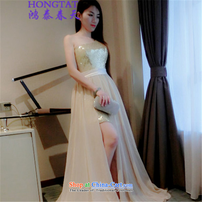In the spring of? 2015 Summer Hong Tai On-chip high pockets of the forklift truck and large dresses 522-1-8804-85 Wah picture color?M