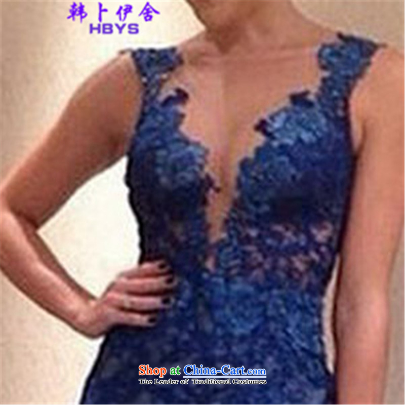 Won Bin Abdullah Esher? 2015 Summer lace V-neck and sexy style mini skirts Wah 512-B-808-35 BLUE?XL