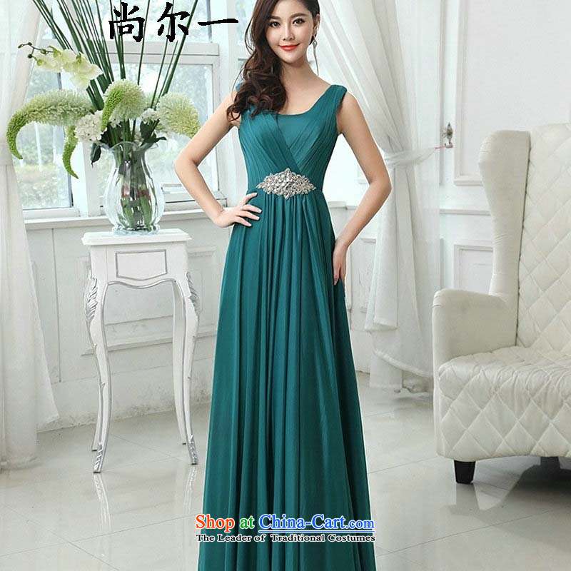 Optimize the new 2015 Hong-bridesmaid evening dress sleek and hem long skirt banquet moderator will ylf002 XXL