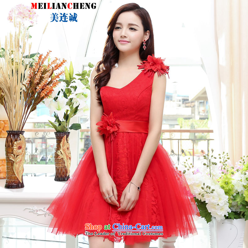 Mei Lin Shing 2015 new stylish look elegant trend Korean dress skirt version Sau San video thin sleeveless commuter dresses RED?M