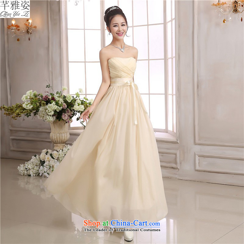 C.o.d. fourth quarter of small dress purple chiffon long skirt strap dresses, under the auspices of the annual show short skirt bridesmaid wedding dresses and sisters long skirt champagne color long