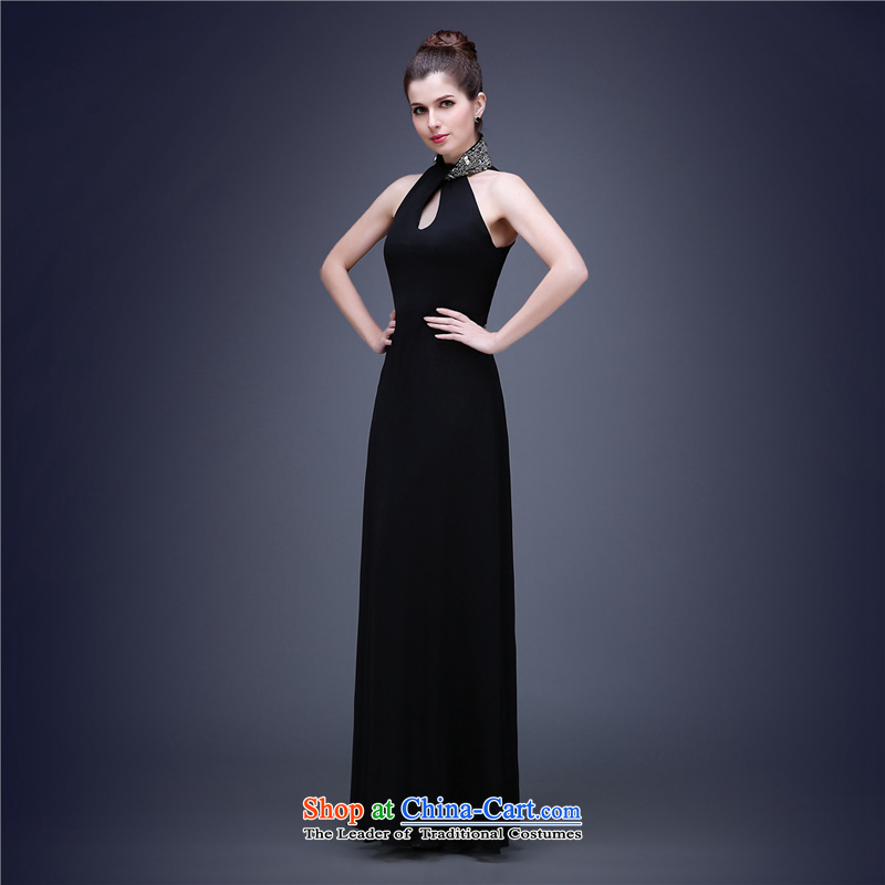 (Aaron's health-hung also convey the new air quality evening dresses moderator banquet Top Loin of Sau San dress dresses elegant small black skirt black?S