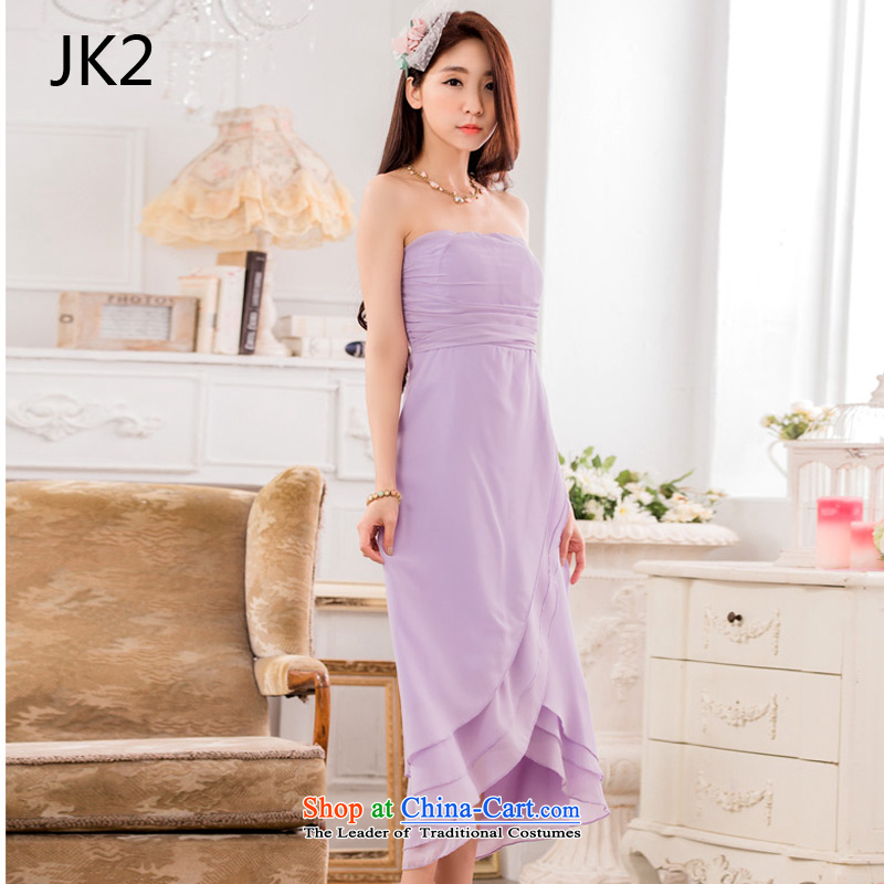 Elegant and bright chest Foutune of Princess skirt omelet before large chiffon dress skirt (feed) 9833 JK2 stealth purple are code