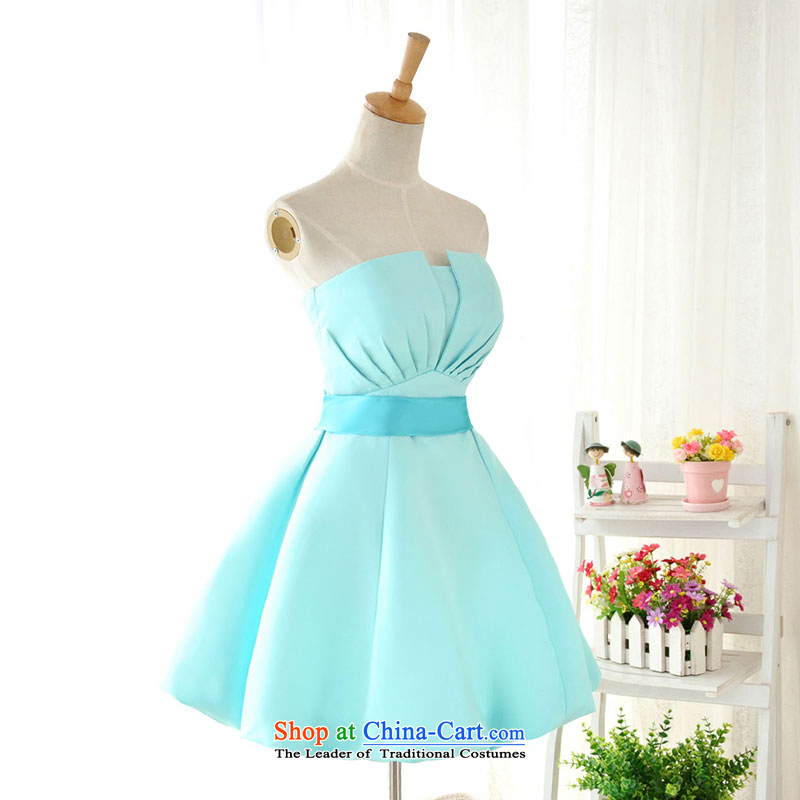 Millennium bride 2015 new Korean version of autumn and winter short of purple bridesmaid dress sister evening dresses Female dress skirt D6001 small green S/19, millennium bride shopping on the Internet has been pressed.