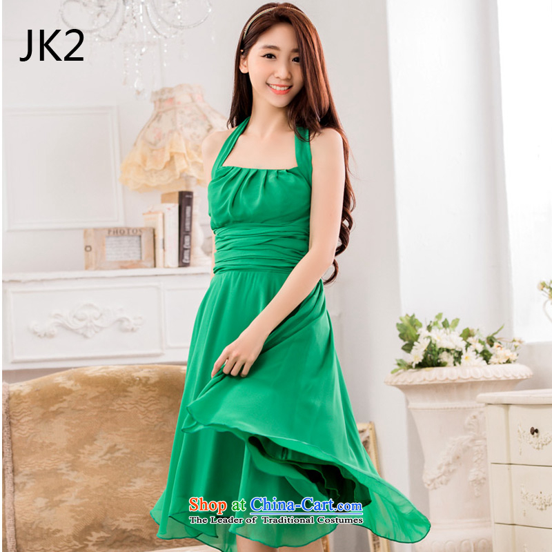 A stylish pressure folds video thin large chiffon dress larger dresses with belts) JK2�XXXL shut down or suspended business was 253,935 Green