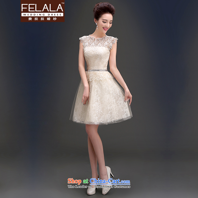 Ferrara?in the summer of 2015, sweet engraving shoulders round-neck collar foutune fluffy dress bows services?XL