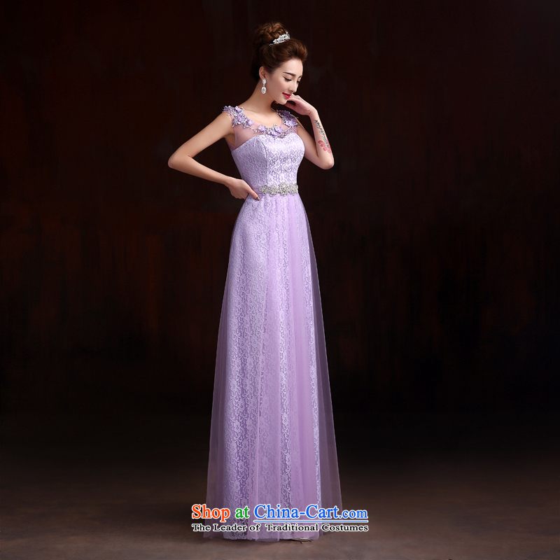 Pure Love bamboo yarn wedding dresses Top Loin of Korean long thin dark green dress graphics evening dresses purple lace show new dress with a light purple bamboo Pure Love yarn, , , , shopping on the Internet