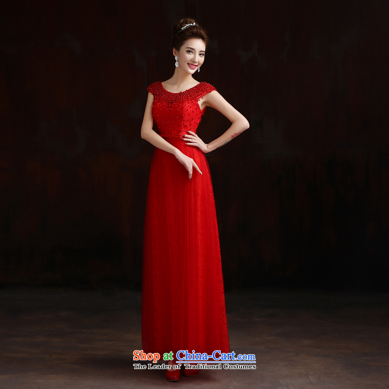 Pure Love bamboo yarn wedding dress bride wedding dress evening dress Korean long gown upscale bridal dresses of wedding photography red S