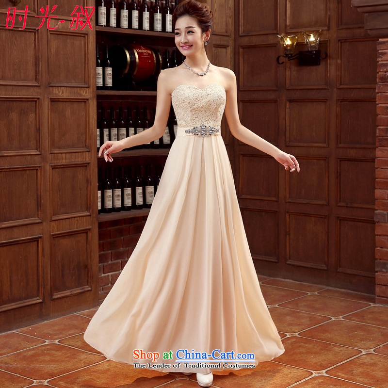 Syria lace Erase Time Chest dinner serving bridesmaid dress skirt sister dress evening dresses female car show the betrothal students graduated in evening dress champagne color�L