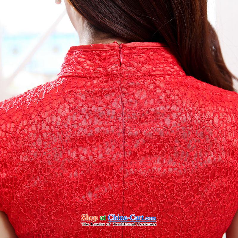 To Doi Shu bride wedding dress bows services spring and summer skirts qipao new 2015 Stylish retro lace improved short of Sau San red聽, L, L'Tai Kiu , , , shopping on the Internet