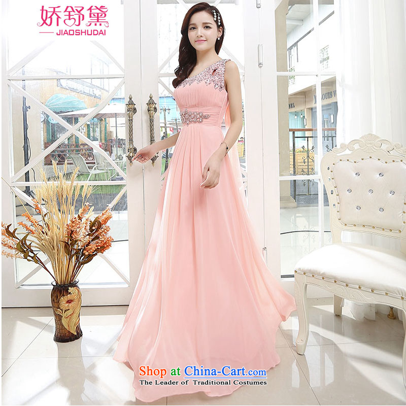 To Shu Doi Dinner Red Dress bows service bridal dresses marriage banquet evening dresses long annual spring evening Sau San pink�S