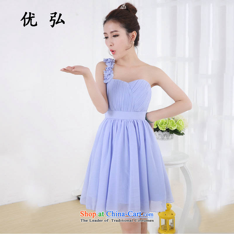 Optimize video single dress short of small dress bride wedding dress will chiffon skirt sister skirt bridesmaid wy694 services will light violet