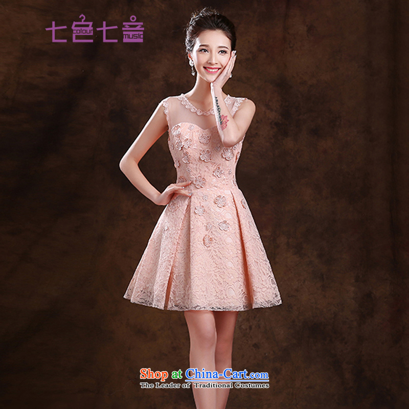 7 Color 7 tone won 2015 New bride edition bows to marry Evening Dress Short) bridesmaid dress dresses?L033?light pink?L