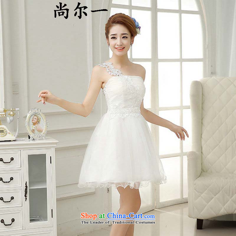 Yet, a 2015 new bridesmaid Dress Short Lifting Strap, Small dress skirt bride dinner drink service bridesmaid skirt qlf001 white are code