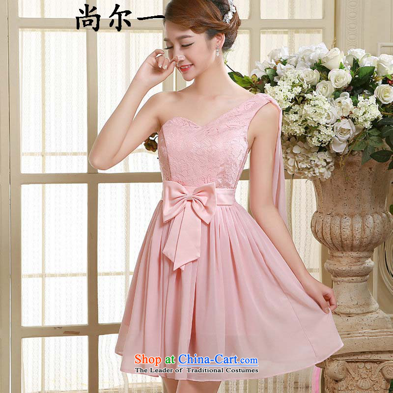 Naoji a 2015 summer gown bridesmaid short, banquet evening dresses and sisters mission bridesmaid skirt moderator small dress code is pink qlf002