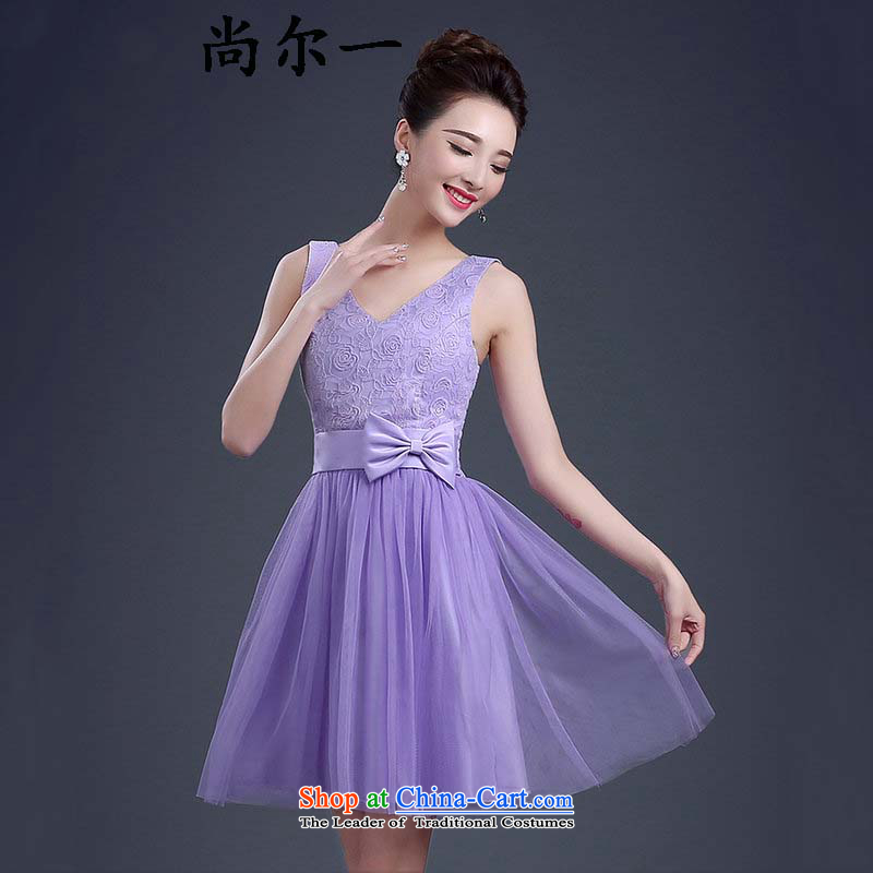 Yet, a new spring and summer bridesmaid shoulders short_ bridesmaid banquet evening dresses and sisters mission bridesmaid skirt moderator small dress code is purple qlf003