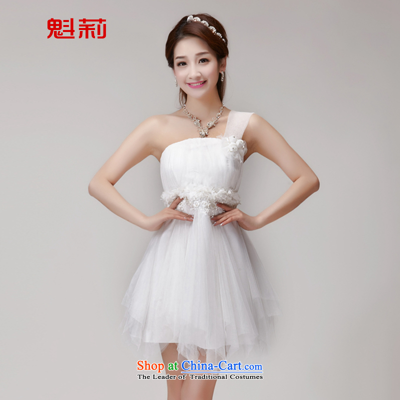 Record bridesmaid services 2015 new bridesmaid mission dress evening dresses and sisters skirts banquet short, small summer gown K5600 White