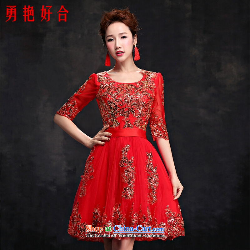 Yong-yeon and evening dresses 2015 new drink service, Ms. wedding dress bride stylish wedding dresses summer red�L
