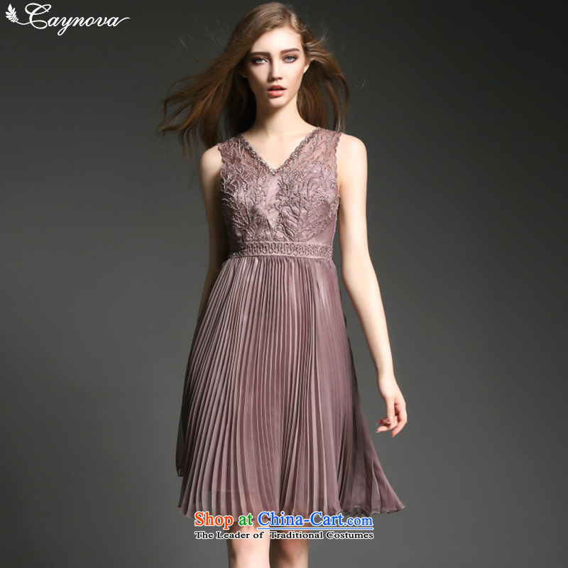The new summer caynova2015 female luxury nail pearl embroidery like Susy Nagle skirt the usual zongzi dress color Sau San?M