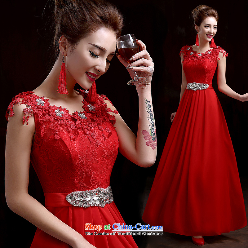 Pure Love bamboo yarn new elegant export click outside the marriage bridal dresses performance stage photography dress wedding dresses RED�M