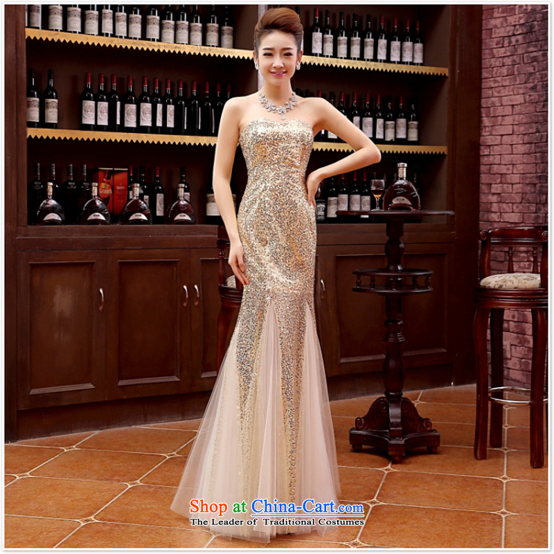 2015 Sau San sexy wipe off-chip dresses chest crowsfoot lace female evening stars of long serving light yellow bride bows�s