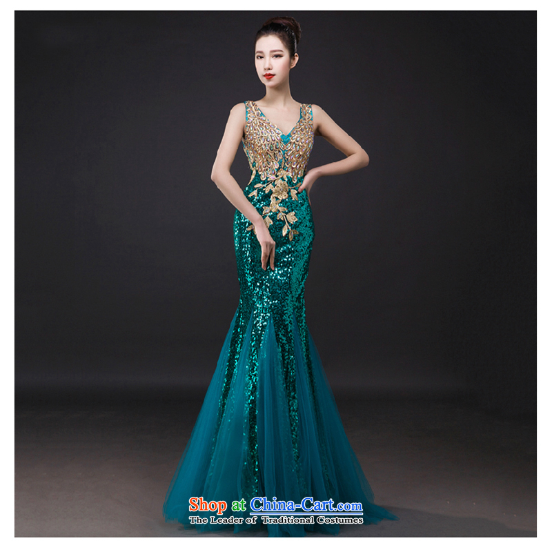 The first white dress into about 2015 new wedding dress shoulders bows service bridal dresses crowsfoot bows dress of Sau San Green?M