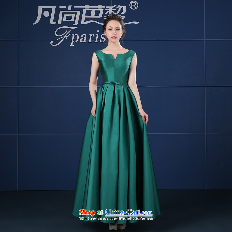 Where does the new 2015 Lai and dress short spring and summer, stylish bows in long large moderator dress female green long�M