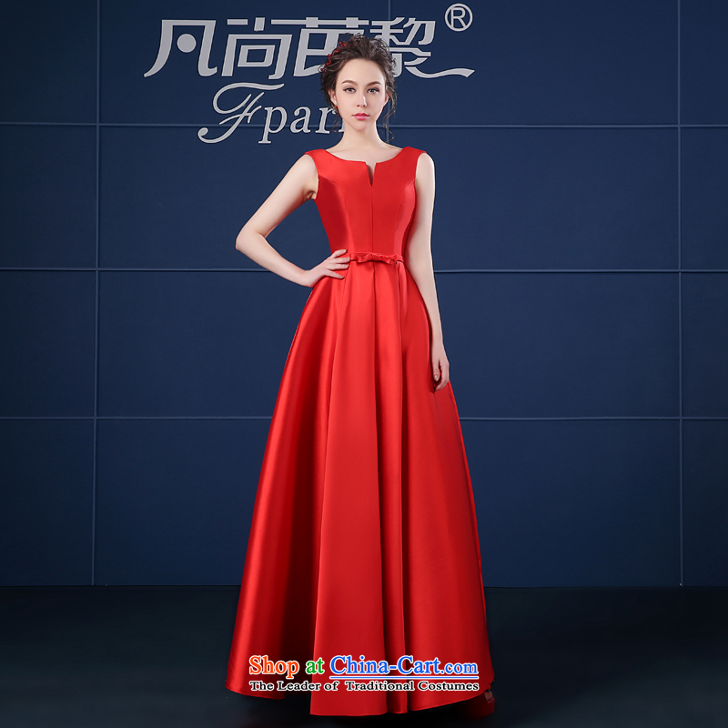 Where does the new 2015 Lai and dress short spring and summer, stylish bows in long large moderator dress female red long M