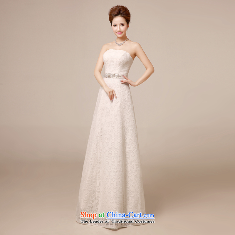 Wedding dresses in the summer of 2015, the new white long graphics thin marriages wedding dresses and chest dress, evening dress A Swing Simple wedding white tailored does not allow