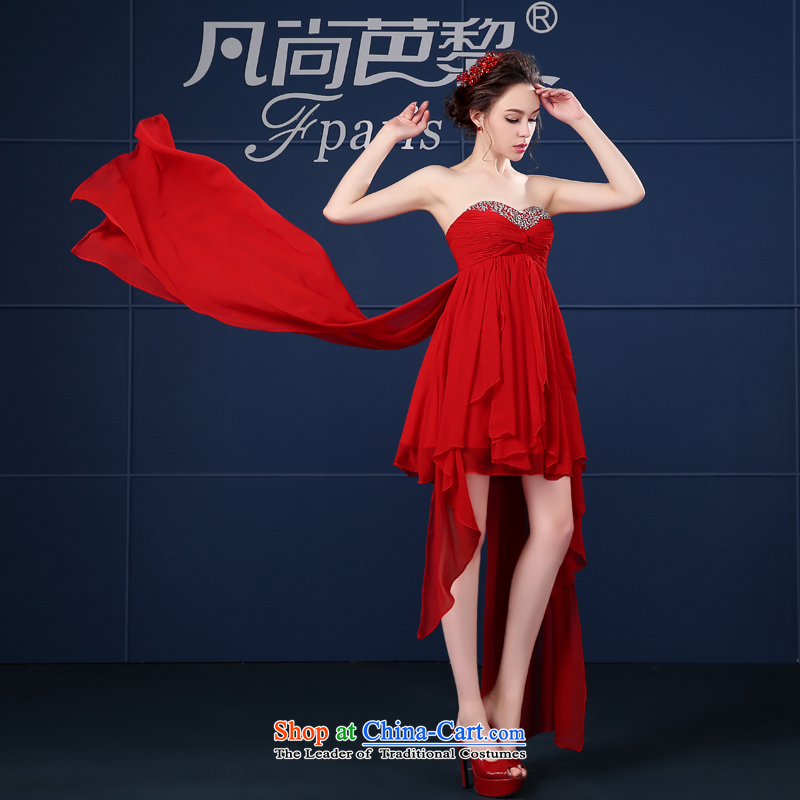However Service Bridal Fashion New Spring 2015) red short of small dress bridesmaid evening dress wedding dress female red�S