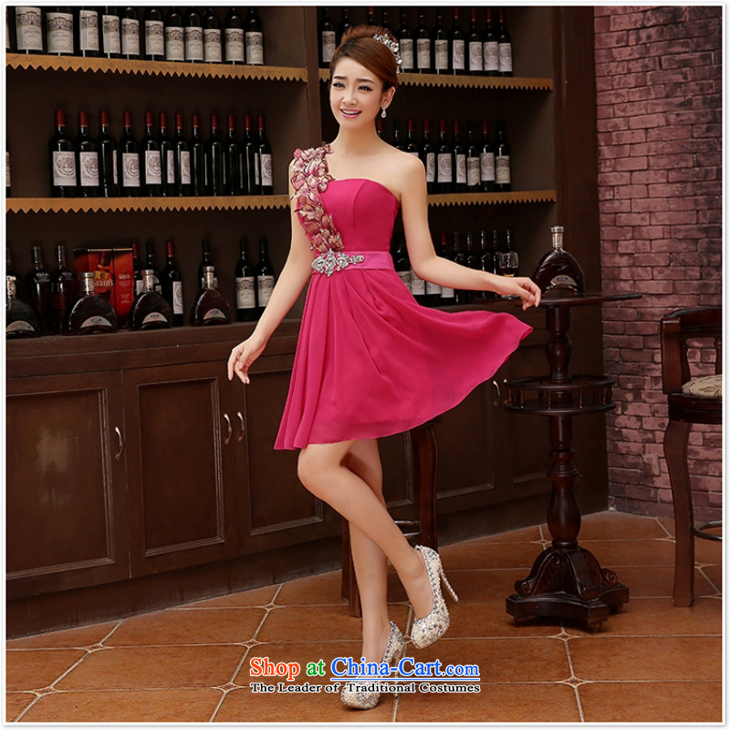 Charlene Choi Ling marriage wedding dresses short) equipped bridesmaid to bind with short of marriage evening dress small pink dresses marriage�s
