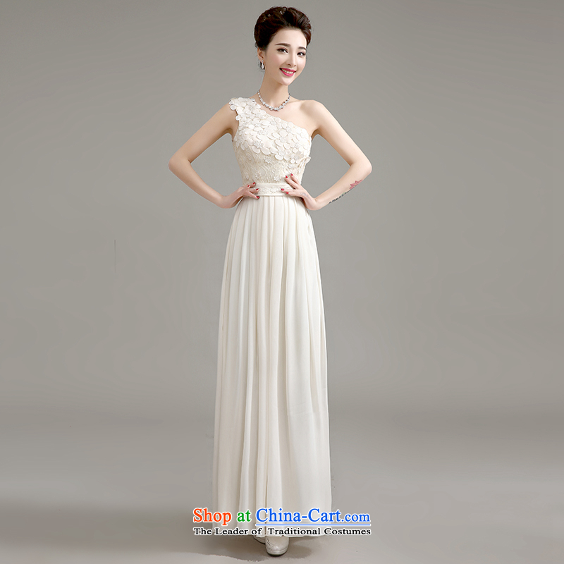 Summer 2015 new bridesmaid mission dress long marriage bridesmaid sister skirt dress uniform graduated from small Female dress uniform champagne color can be made plus _30 Does Not Return