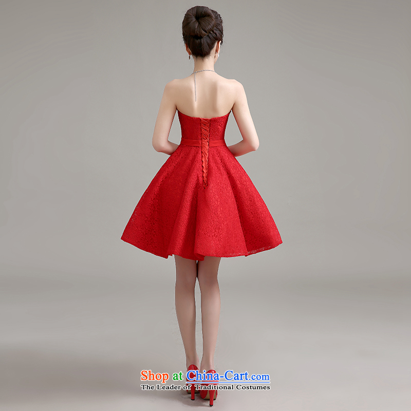 Yi is the spring and summer of 2015 Love new stylish wedding dress banquet service bridal dresses bows marriage in a small red dress betrothal female red, L, Yi love is , , , shopping on the Internet