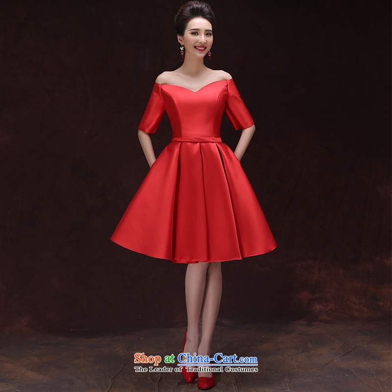 However Service Bridal Summer 2015 Graduated from the marriage of Red Dress Short, shoulder the small dining dress video thin spring Hepburn style red dress tailored please contact Customer Service