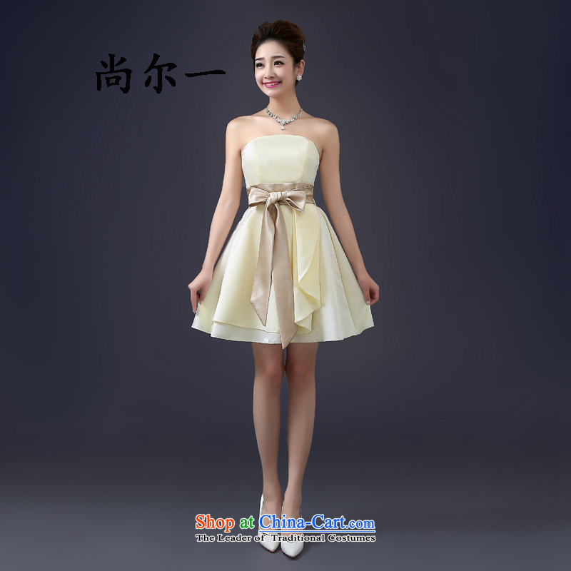 Yet, a wedding dresses new spring wiping the chest bride small Dress Short of dresses bridesmaid mission bon bon short skirts female 5273 pink are code