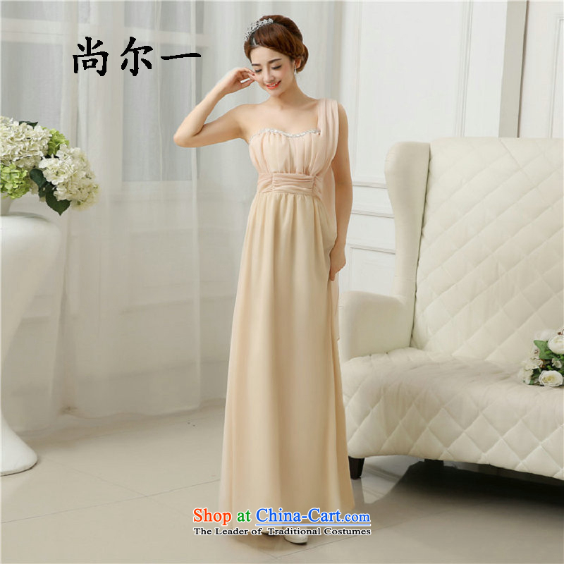 Yet, a new paragraph bridesmaid mission dress long bridesmaid sister skirt elegant long service pack marriage will Mr Ronald, used in rule5278 champagne color are code