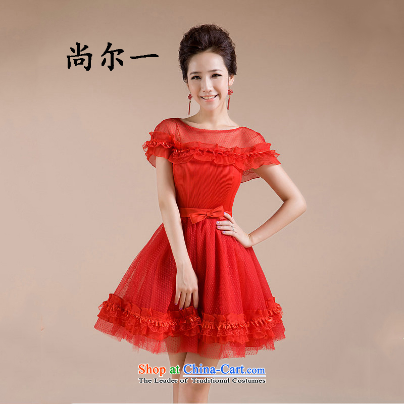 Naoji a sweet princess sexy elegant wedding dresses bon bon skirt lace wedding dress out of the bride 2014 NEW XS589 RED�XL