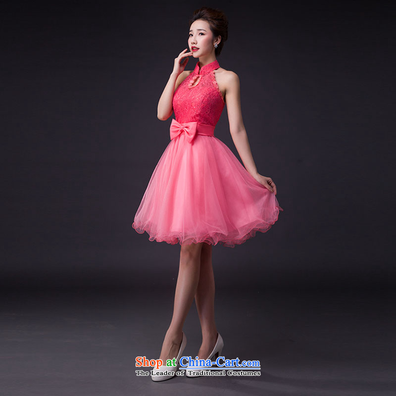Hei Kaki wedding dresses 2015 new stylish Korean version of the Princess Bride also integrated with short-hang, the only services JX03 butterfly partnering madame pink?M