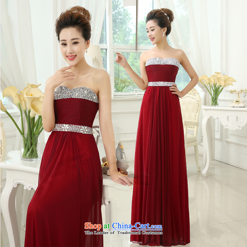 Pure Love bamboo yarn 2015 new red bride wedding dress long evening dresses evening drink service manual parquet diamond jewelry evening dresses shone dark red and classy tailored please contact Customer Service
