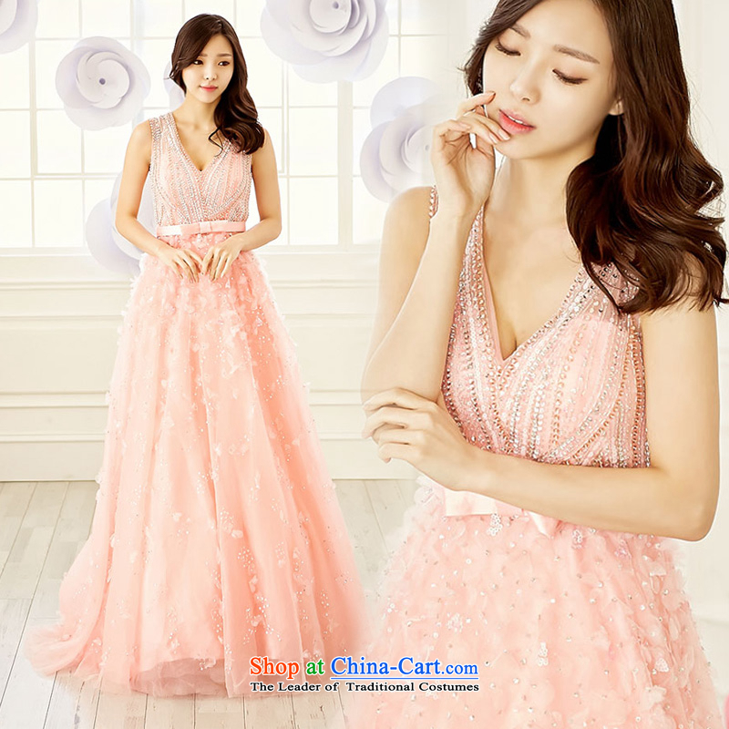 The sponsors of the?2015 New Korean design an entire manually staple pearl premier luxury bride bows dress will customize other color?L chest 90 Waist74)