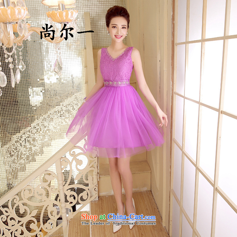 Naoji summer evening dress short, banquet and sisters in champagne color moderator small dress skirt 52810 will light violet