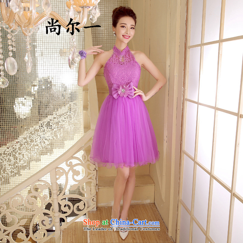 Yet, a new paragraph bridesmaid Dress Short of Korean version of sister married in banquet small dress skirt spring and summer 52,811 light purple are code
