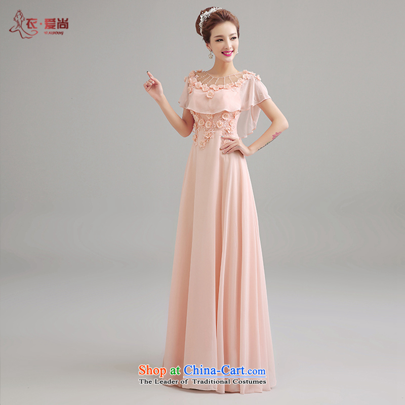 Yi Sang-wedding dresses Love 2015 Summer new marriages bows services bridesmaid dress long red bows service banquet shoulders evening dresses female pink can be made plus _30 Does Not Return